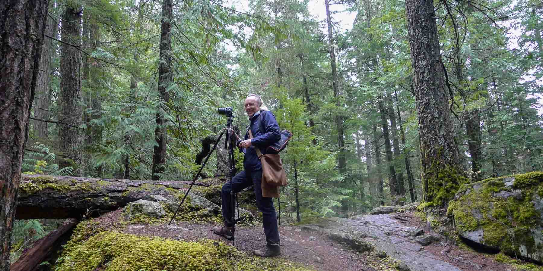 Photographing in the forest.