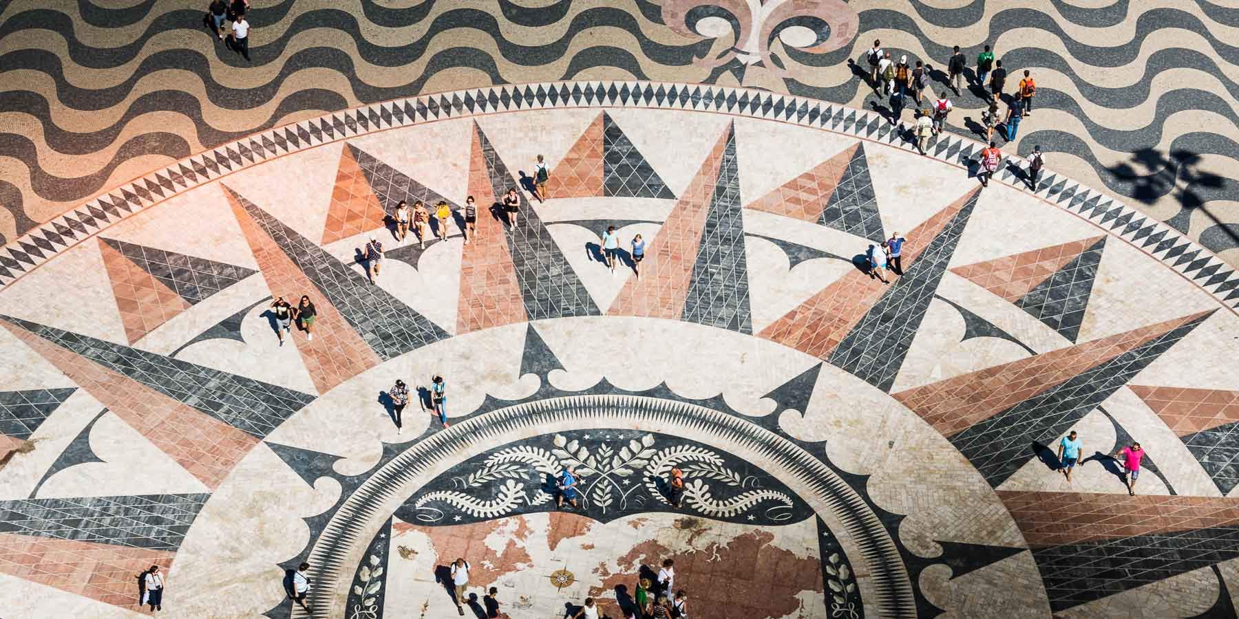 View of mosaics from the top of the Belem tower.