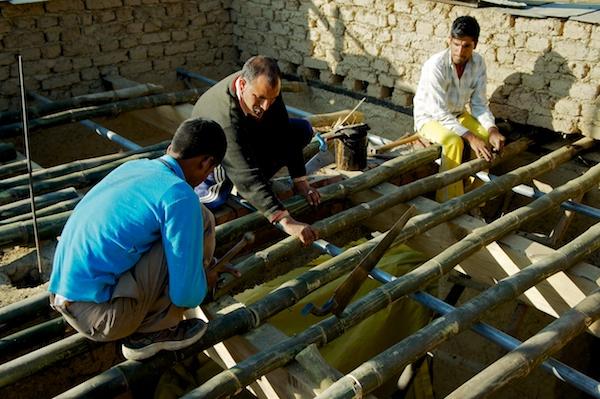 Bamboo floor school