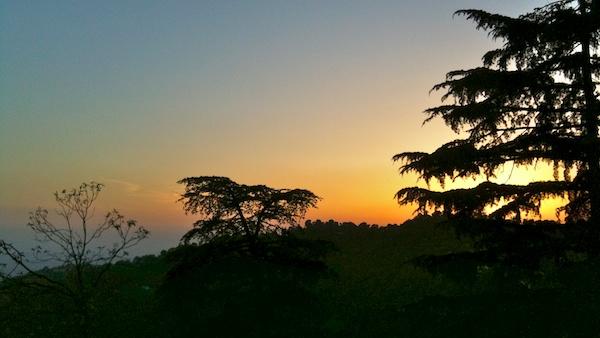 Sunset from KhanaNirvana DEVI