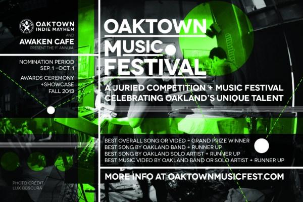 Oaktown Independent Music Festival 2013