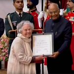 Didi Contractor receives Nari Shakti Puraskar from President of India