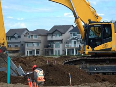 Komat'su Excavator Digging Lines at Rosenthal
