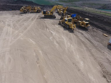 Heavy Equiment on the Villinue Pit Project