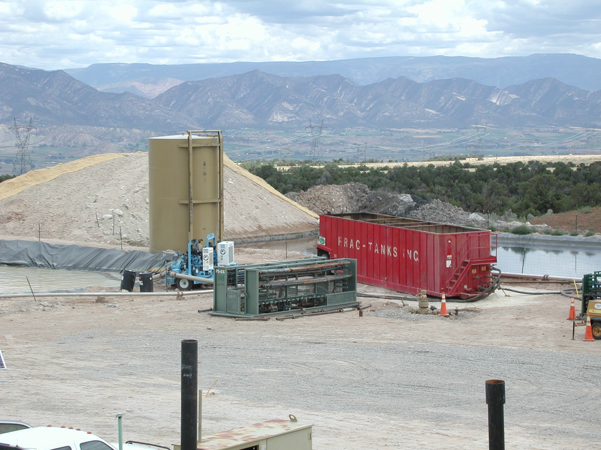 Fracking operation, Grass Mesa, Colorado. Photo Credit: Peggy Utesch.