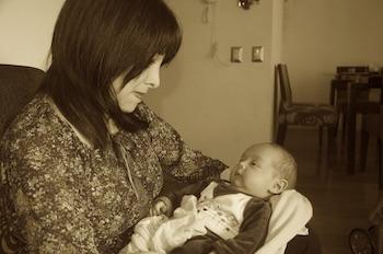 Mirtha and her son Nicolas