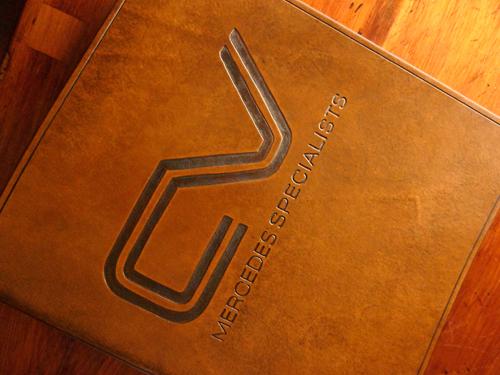 Earthworks Journals customised leather ringbinder