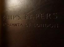Earthworks Journals Black Leather Ship's Log for Atalanta of London