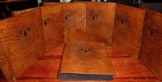 Earthworks Journals Leather Binders with Custom Business Logo for Crafty Camping