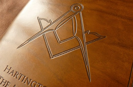 Earthworks Journals A5 Brown Leather Binder for Masonic Lodge