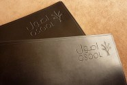 Earthworks Journals Pair of A4 Black Leather Binders with OSOOL Company Logo