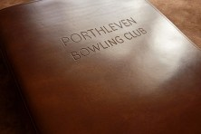 Porthleven Bowling Club Personalised Earthworks Journals Leather Ring Binder