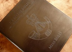 Earthworks Journals A4 Black Leather Mess Rules Binder for 1st Battalion The Rifles