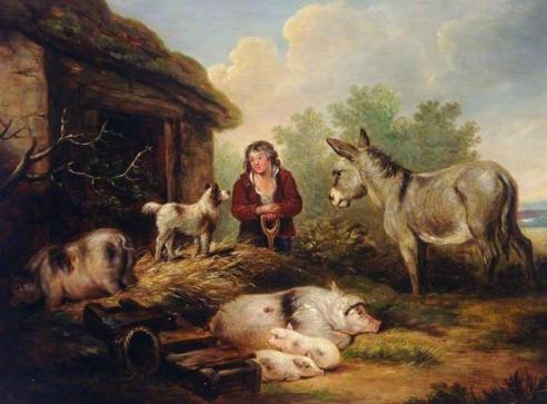 Farmyard Scene - George Morland