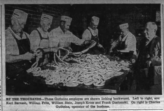The_Scrantonian_Sun__Jan_13__1952_ (men linking bockwurst)