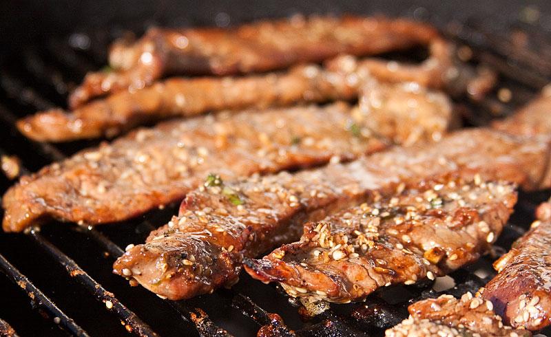 Grilled Flank Steak, Korean-style