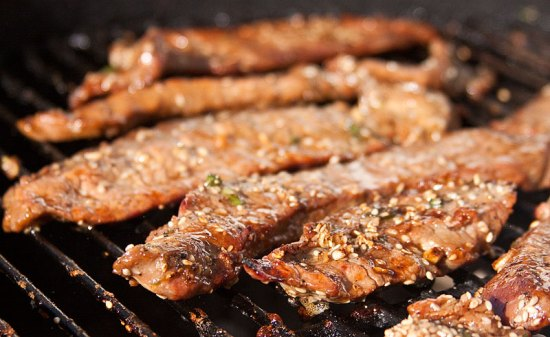 Grilled Flank Steak, Korean-style