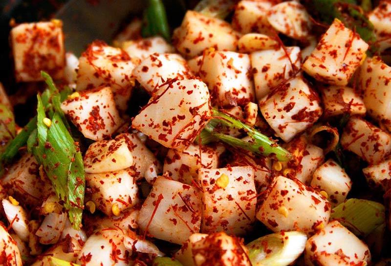 Kimchi ingredients, mixed & ready to go