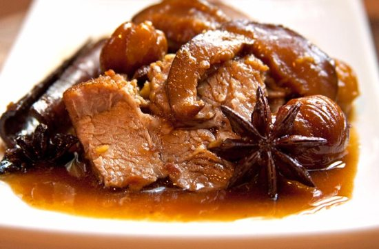 Red-cooked Pork with Chestnuts