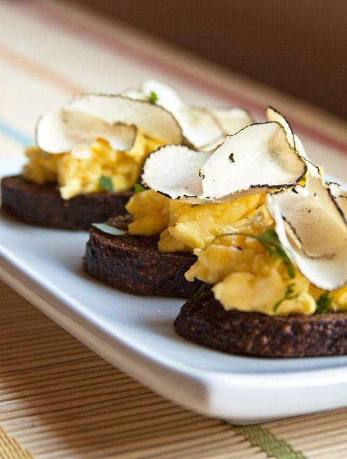 Scrambled Eggs with Summer Truffles