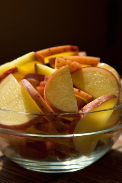 Sliced Klondike Rose Potatoes
