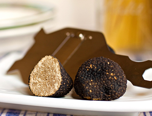 Summer Truffles with truffle shaver
