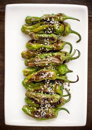 Pan-fried Shishito Peppers