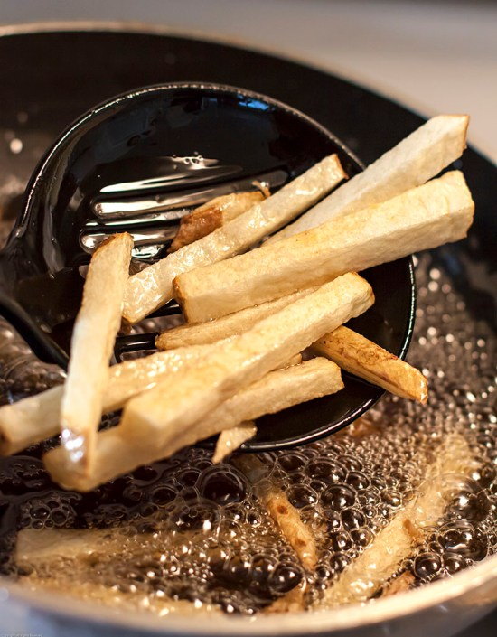 Perfectly blanched fries