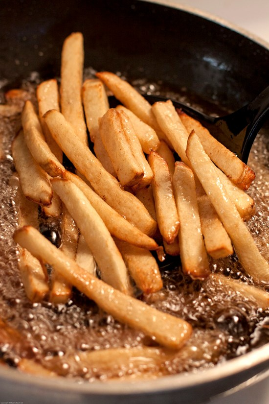 Golden brown French fries