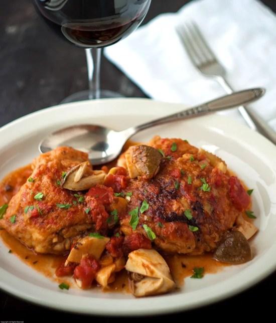 Chicken Cacciatore with Porcini Mushrooms
