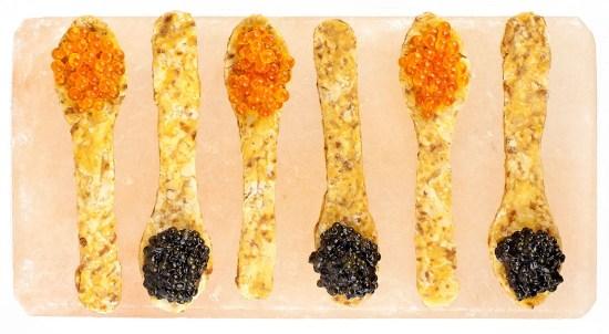 Crisp Caviar Spoons Wide