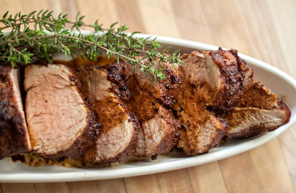 Pork tenderloin with fresh thyme