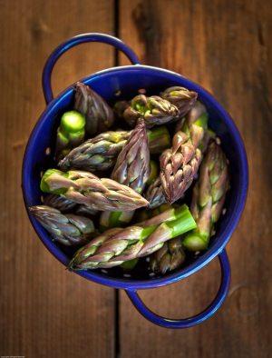 Crisp asparagus tips