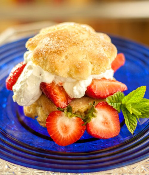 Lemony Strawberry Shortcake