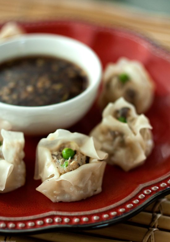 Black Garlic Shu Mai with Smoked Soy Dipping Sauce