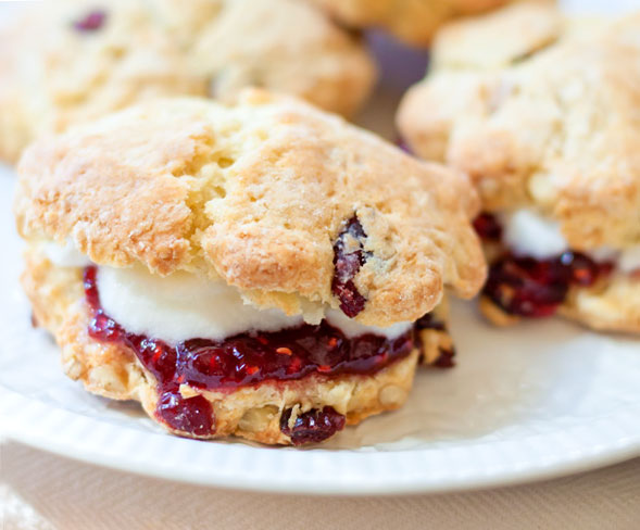 Dried Cranberry & Pine Nut Scones
