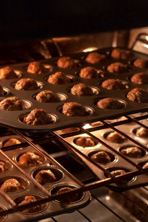 Turkey mini-meatballs in the oven