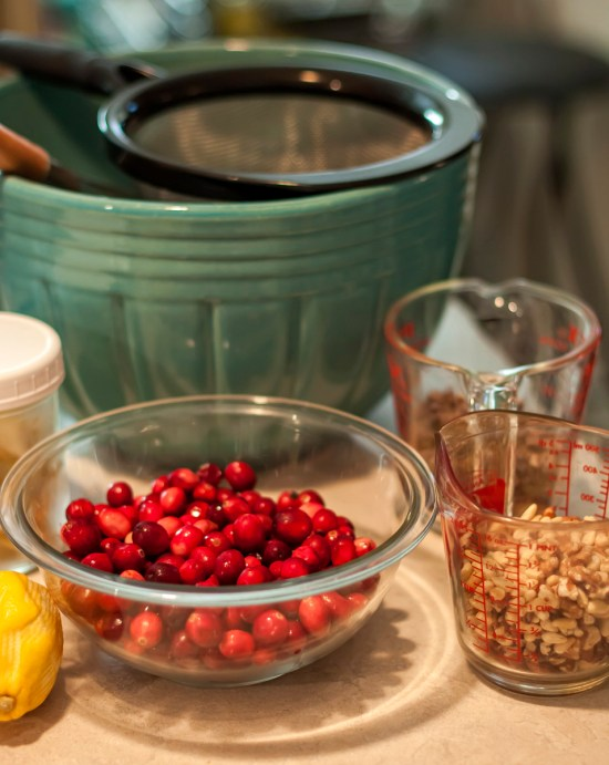 Ingredients for Double Cranberry-Orange Bread
