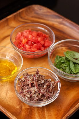 Toppings for pizzettas