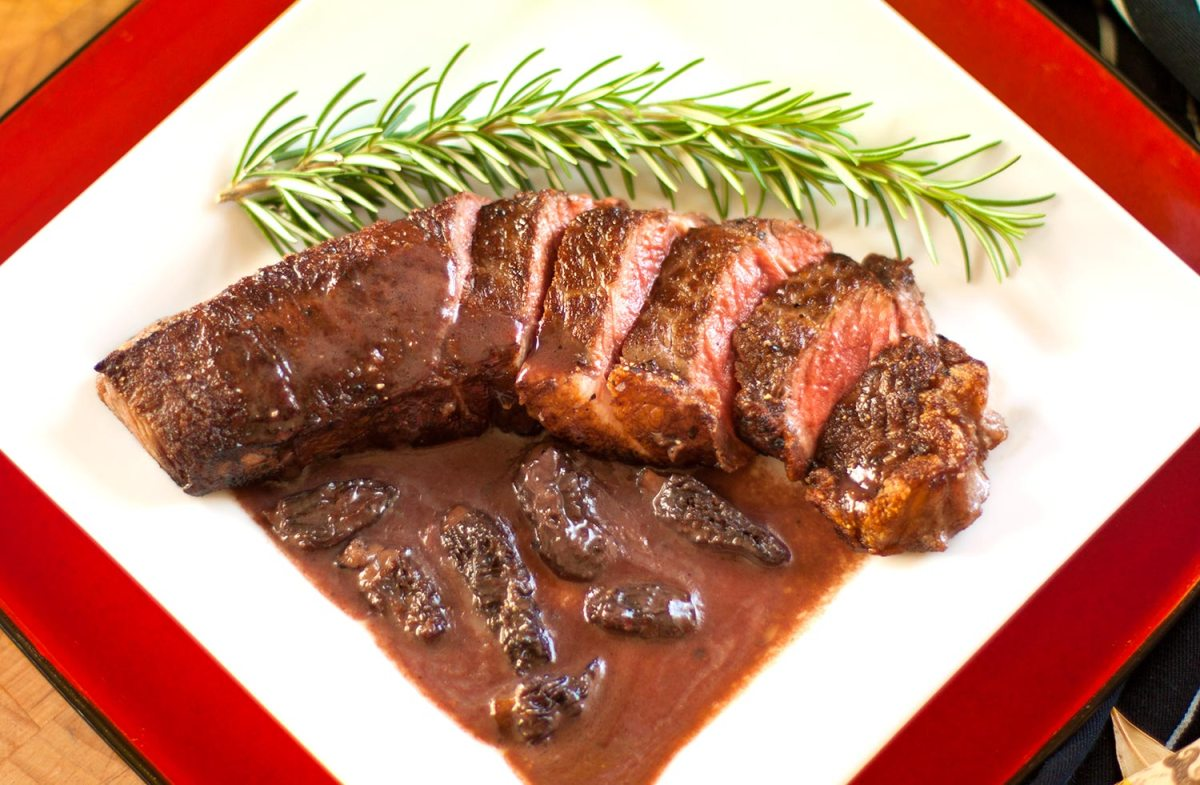 The Earthy Delights Recipe Blog Steak With Morel Ramp Bordelaise Sauce,Dog Ear Mites Vs Infection