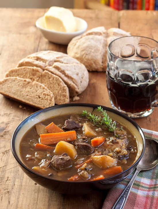 Guinness and Beef Stew with Wild Mushrooms