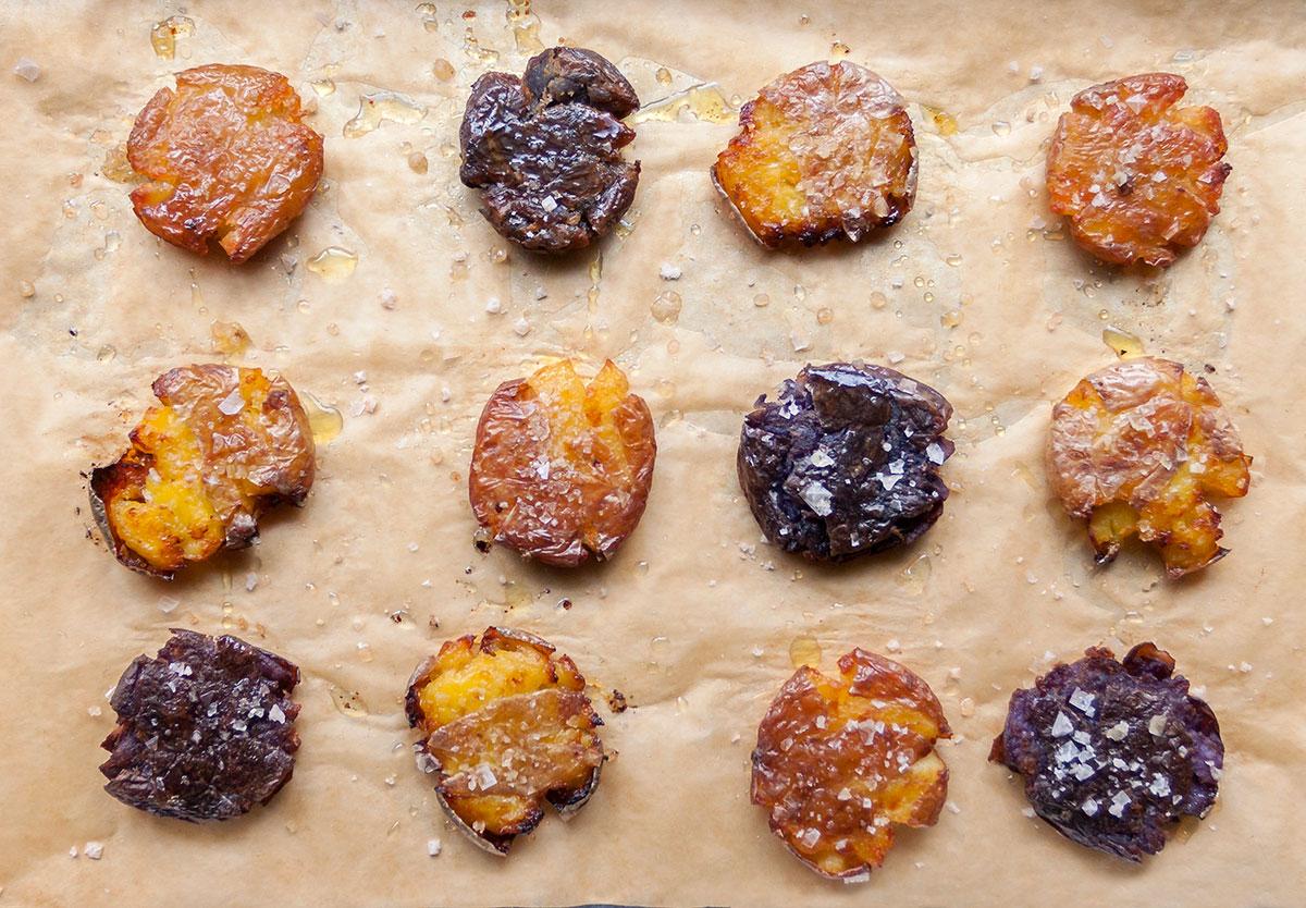 Crispy Truffled Smashed Potatoes
