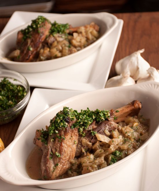 Slow Cooker Fennel Braised Lamb Shanks with Buddha's Hand Citron Gremolata