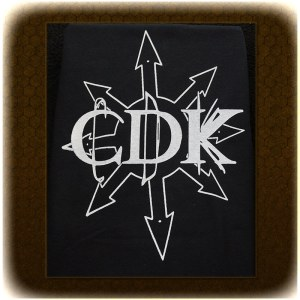 "White on Black CDK ""Chaos"" T-Shirt"