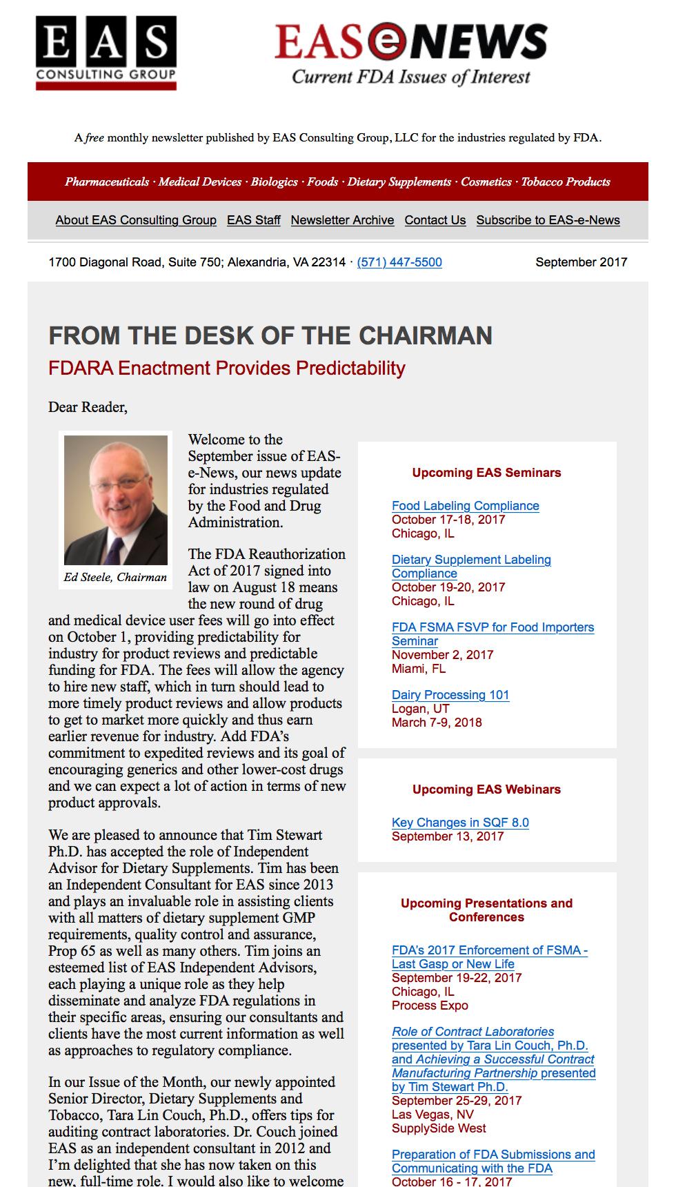 EAS-e-News September 2017