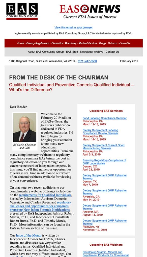 EAS-e-News February 2019