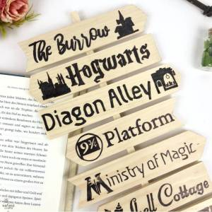 do it yourself Harry Potter Sign Post #harrypotter #signpost #diy