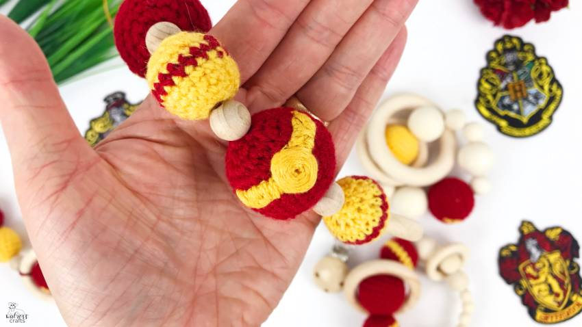 Harry Potter baby clip #harrypotter #babyclip #crochetbead