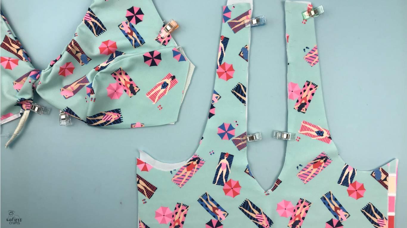 Turn your Cygne Swimsuit into a Bikini - Tutorial and step-by-step instructions #sewing #handmade #bikini