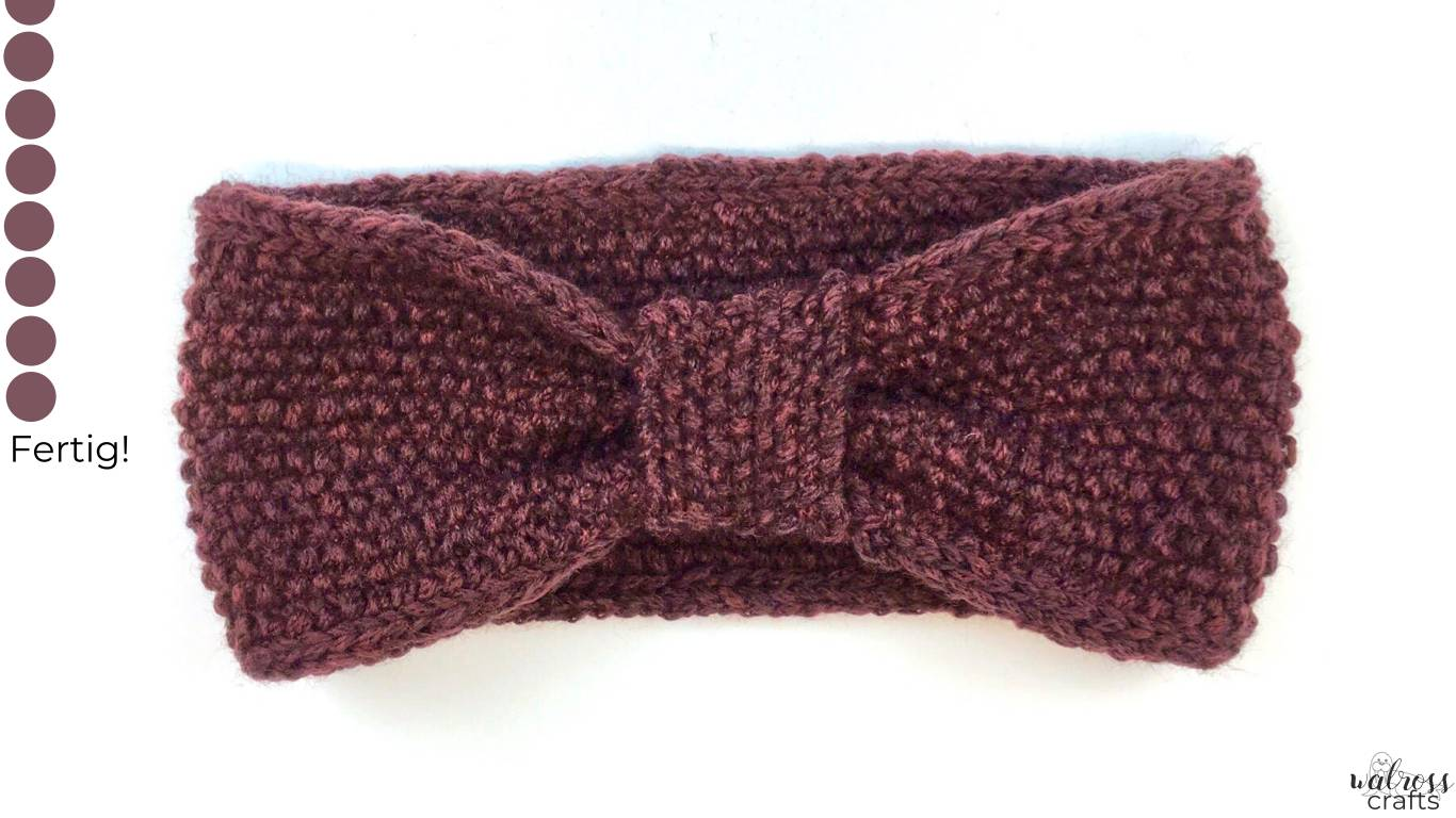 Stirnband stricken leicht gemacht - mit unserem Tutorial bleiben die Ohren diesen Winter warm #crochet #freepattern #freecrochet